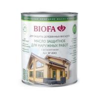 Масло защитное для наружных работ с антисептикомBIOFA2043 Биофа, 2,5 литра
