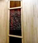 Двери для бани 40 х 700 х 1900 мм, резная №2