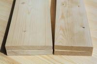 Доска строганная из сосны и ели 30 х 100 х 3000 мм, AB