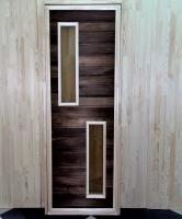 Дверь для бани и сауны 40 х 700 х 1800 мм, остекленная №6