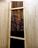Двери для бани 40 х 700 х 1900 мм, резная №1