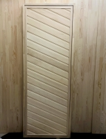 Дверь для бани и сауны 40 х 700 х 1800 мм, глухая №2