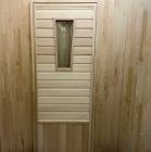 Дверь для бани и сауны 40 х 700 х 1800 мм, остекленная №2