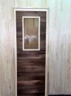 Дверь для бани и сауны 40 х 700 х 1800 мм, остекленная №4