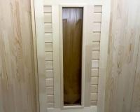 Дверь для бани и сауны 40 х 700 х 1800 мм, остекленная №3