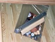 Дверь для бани и сауны 40 х 700 х 1900 мм, бронза матовая