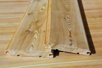 Имитация бруса из лиственницы 20 х 140 х 3000 мм, AB