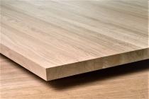 Мебельный щит из дуба 18 х 600 х 1400 мм, цельноламельная, Экстра