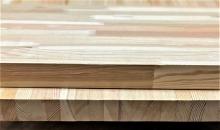 Мебельный щит из лиственницы 40 х 300 х 3000 мм, сращенный, Экстра