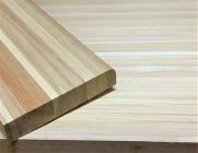 Мебельный щит из лиственницы 40 х 600 х 1600 мм, цельноламельная, Экстра