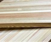 Мебельный щит из лиственницы 40 х 600 х 1500 мм, цельноламельная, Экстра