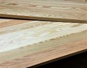 Мебельный щит из лиственницы 18 х 600 х 1800 мм, цельноламельная, Экстра
