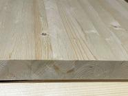 Мебельный щит из сосны и ели 40 х 600 х 2500 мм, цельноламельный, A