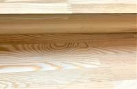 Подступенок из лиственницы 18 х 200 х 1000 мм, сращенный, Экстра