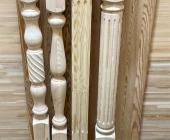 Столбы из сосны и ели 100 х 100 х 1200 мм №2, Экстра