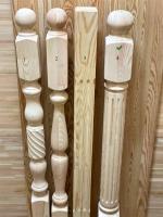 Столбы из сосны и ели 80 х 80 х 1200 мм №4, Экстра