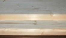 Ступени из сосны и ели 40 х 400 х 1000 мм, цельноламельные, A