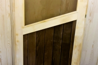 Дверь для бани и сауны 40 х 700 х 1800 мм, остекленная №5